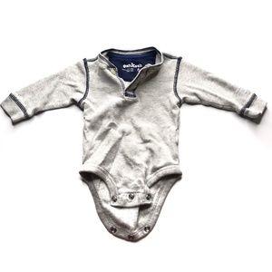 OshKosh B'gosh Gray Henley Body Suit A020790